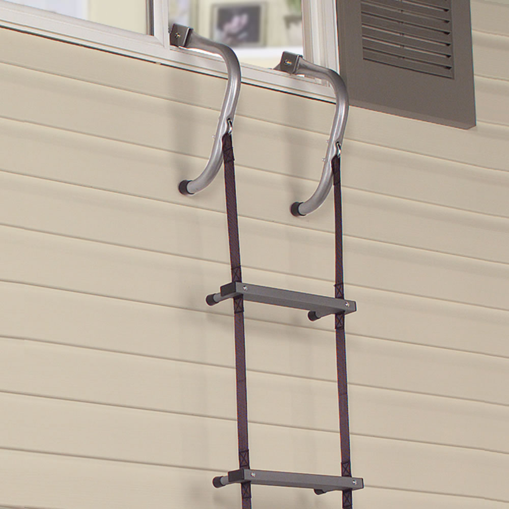 Apartment Building Fire Escape Ladder do you know how to get out of the home in case of fire